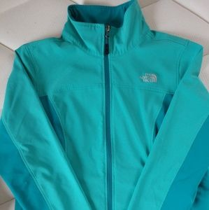 Beautiful two-tone teal light weight jacket.